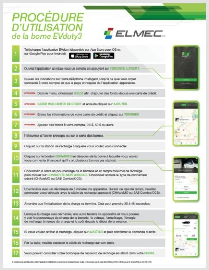 Mode d'emploi application EVduty