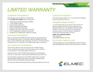 Limited Warranty EVduty3 Fast Charger 50 kWh