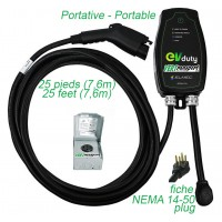 KIT - EVDUTY EVC30 CHARGER (6-50) PLUS POWER OUTLET
