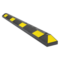 Yellow and black rubber parking stopper 6 '